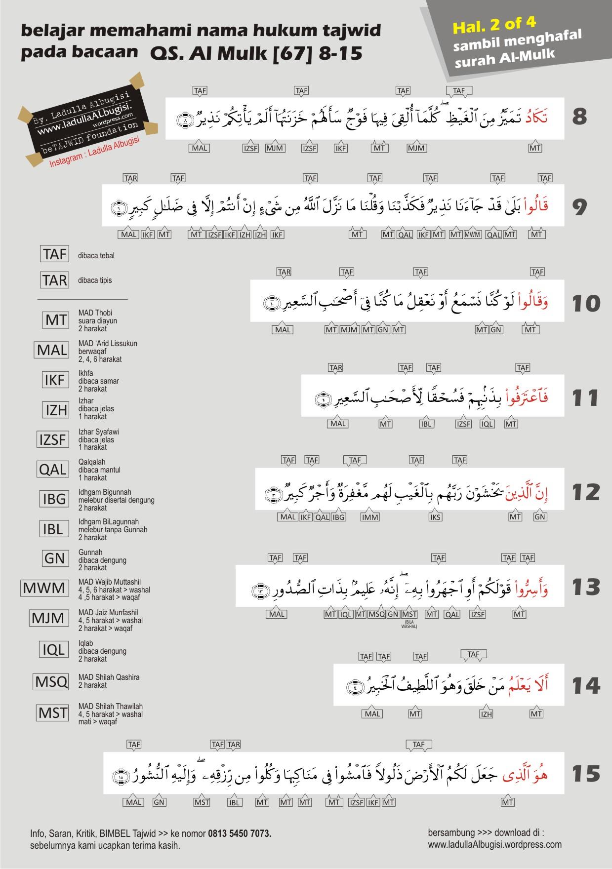 Tajwid Qsal Mulk 8 15 Ladullaalbugisi